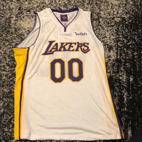 d2d0626a82b Mitchell & Ness Shirts | Lakers Jersey Staples Center Wish Sponsor ...